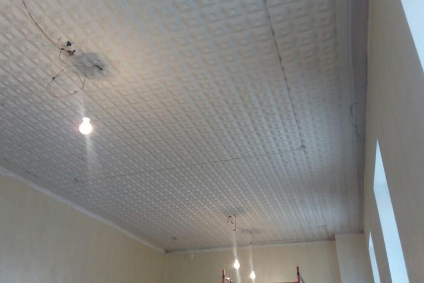 Натяжной потолок до начала работ